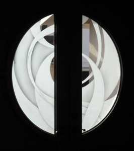 Swirling dimensions entry doors